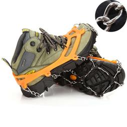 Ice Cleats Traction Snow Grips Shoes Cover for Hiking Fishin