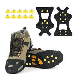 Ice Cleats Walk Spikes Crampons Studded Traction Walking Sno