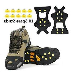 EONPOW Ice Grips, Ice & Snow Grips Cleat Over Shoe/Boot Trac