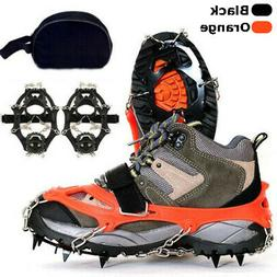 Ice Snow Crampons Cleats Anti-slip Shoes Spike Grip Boot Tra
