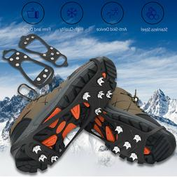 Ice Snow Crampons Cleats Anti-slip Shoes Spike Grips Boot Tr