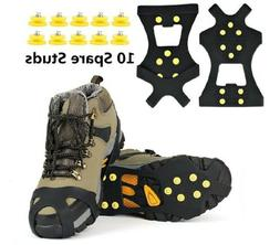 Ice Snow Grips Anti Slip On Over shoe Boot studs Crampons Cl