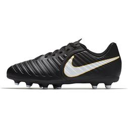 NIKE Kids Jr. Tiempo Rio IV  Firm Ground Soccer Cleat Black/