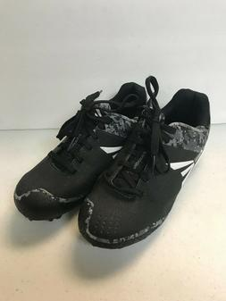 KID'S BASEBALL CLEATS, EASTON, BLACK AND GRAY, SIZES 1.5Y TO