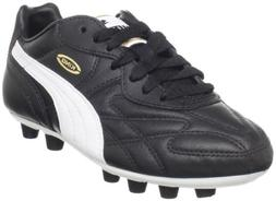 Puma King Top I FG Soccer Cleat ,Black/White/Team Gold,4 M U