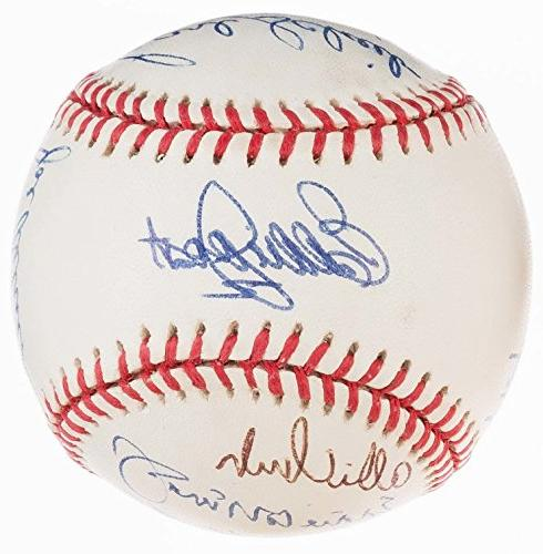 1990 greats multi signed ball