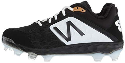 New Baseball Shoe, Black/White, D