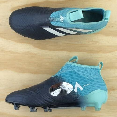 Adidas Ace FG Navy Blue Laceless Soccer Cleats Size
