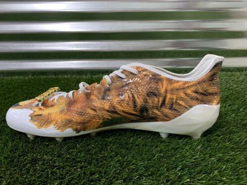 Adidas Uncaged Cleats Gold White SZ