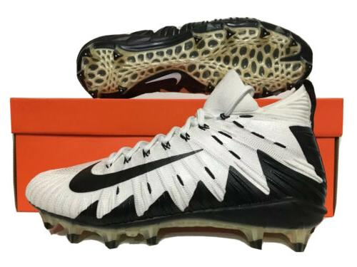 alpha menace elite football cleats white black