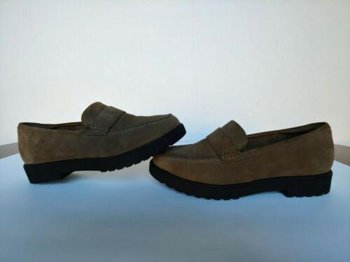Clarks Cleated Loafers - Bellevue Olive Size 8 New