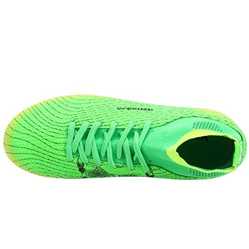ALEADER Boy's Athletic Soccer Cleats Green M Little