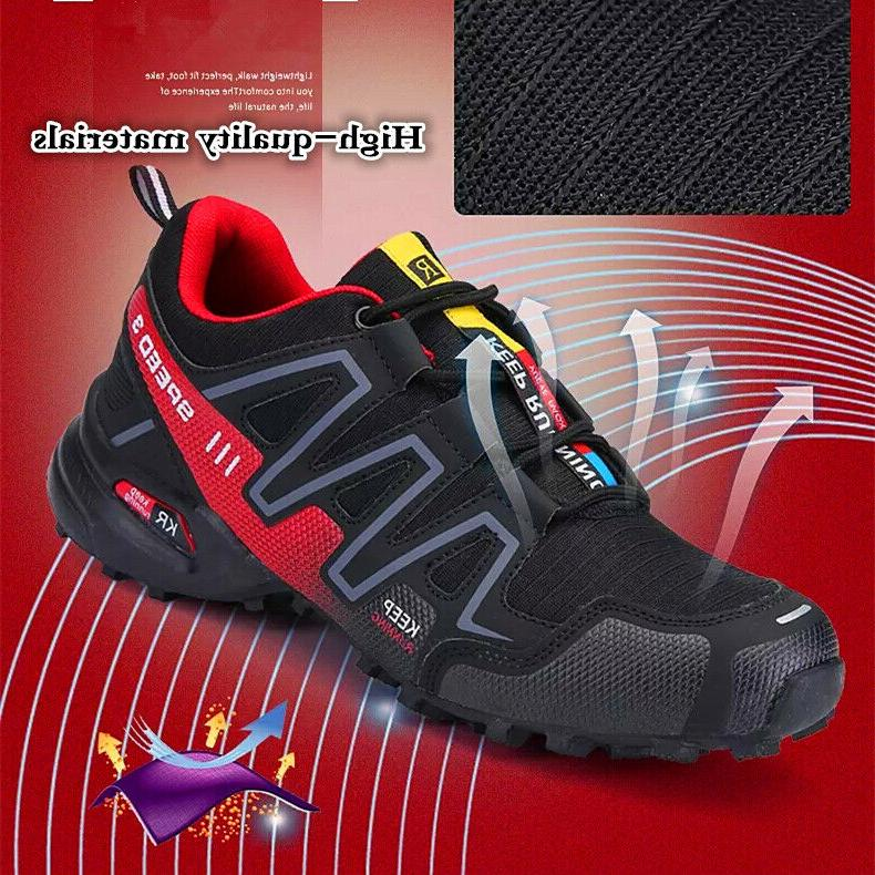 fashion men hiking shoes breathable running sports