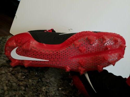 NIKE CLEATS MENS BLACK RED