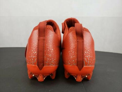 Nike Football Untouchable Cleats Shoes Red & Silver Sz 13