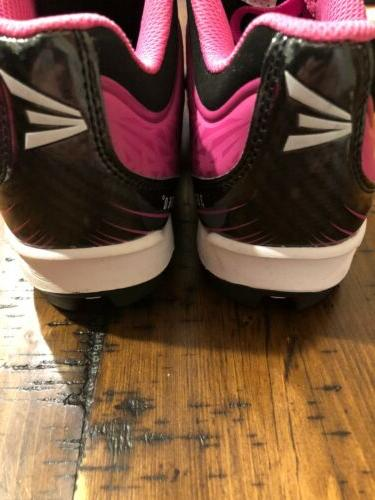 GIRLS BLACK WITH TRIM SPORTS CLEATS Size 3