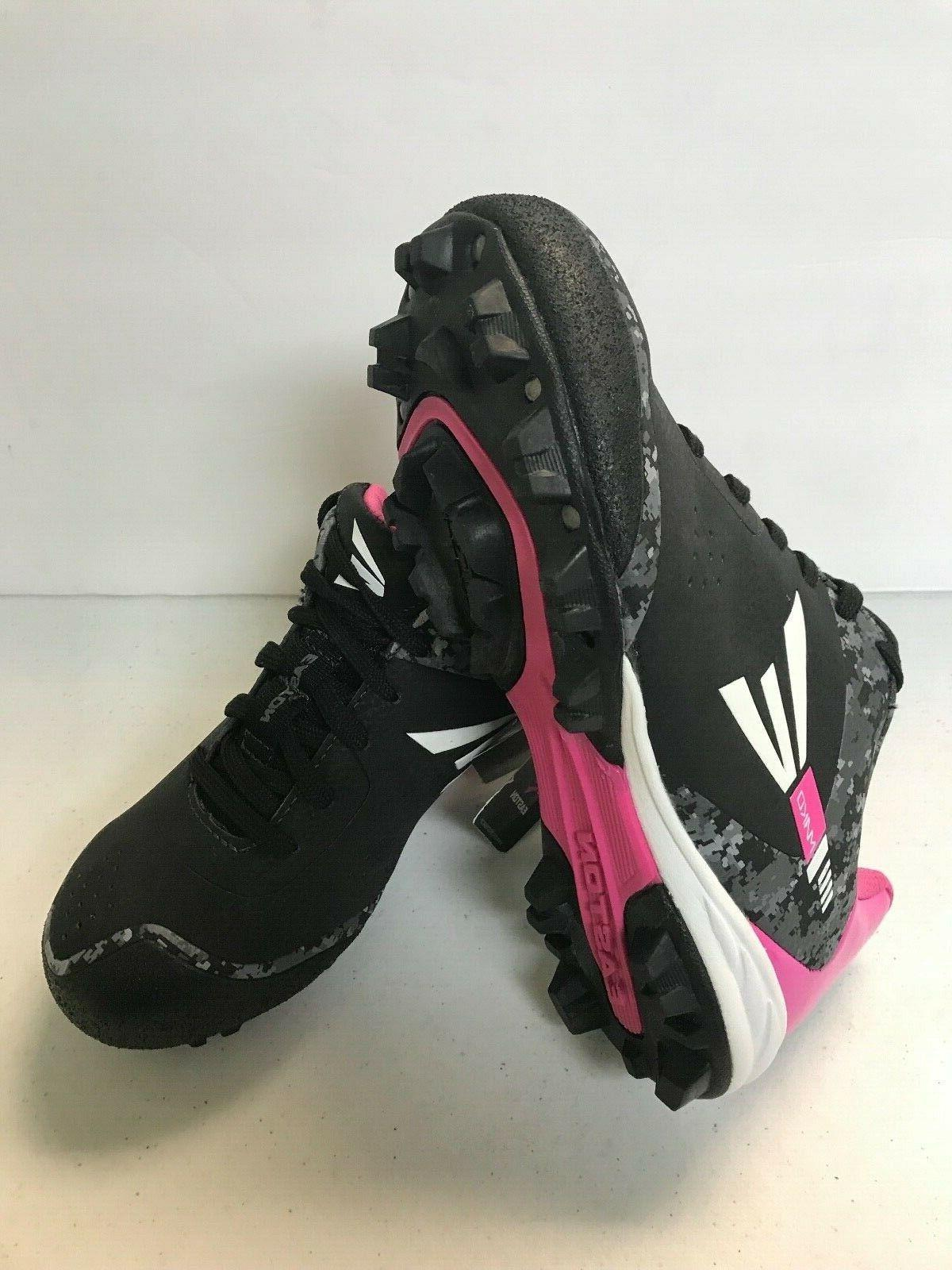 GIRLS EASTON, BLACK AND PINK, SIZES 3Y,