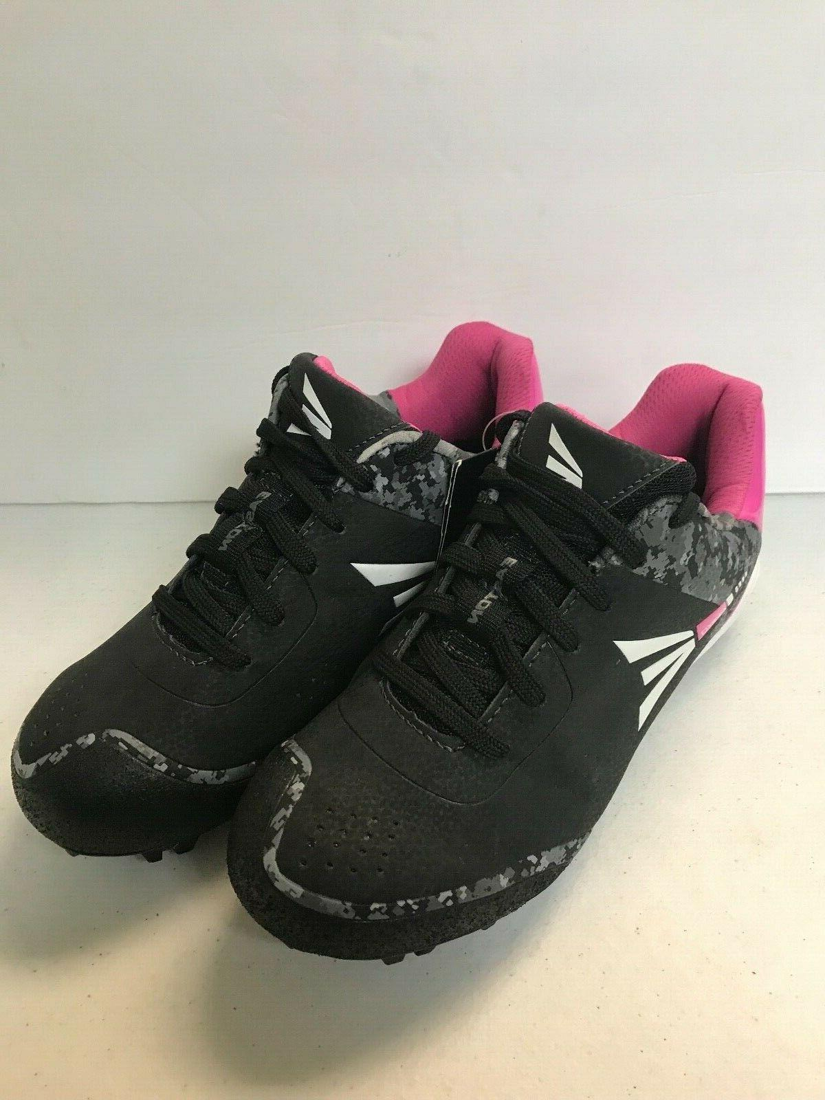 girls softball cleats black and pink sizes