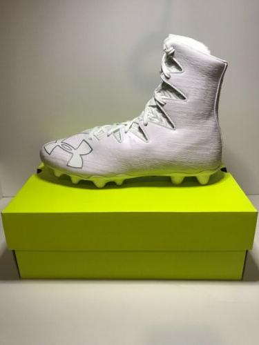 highlight mc football cleats white silver new