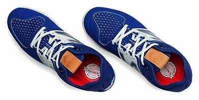 New Metal Baseball Cleat Shoes Blue White Size
