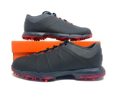 lunar fire golf shoes cleats black red