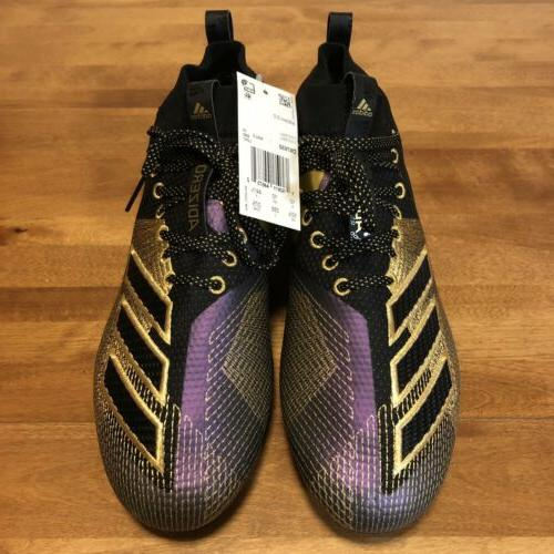 NEW adizero Black/Purple/Gold Size 10.5