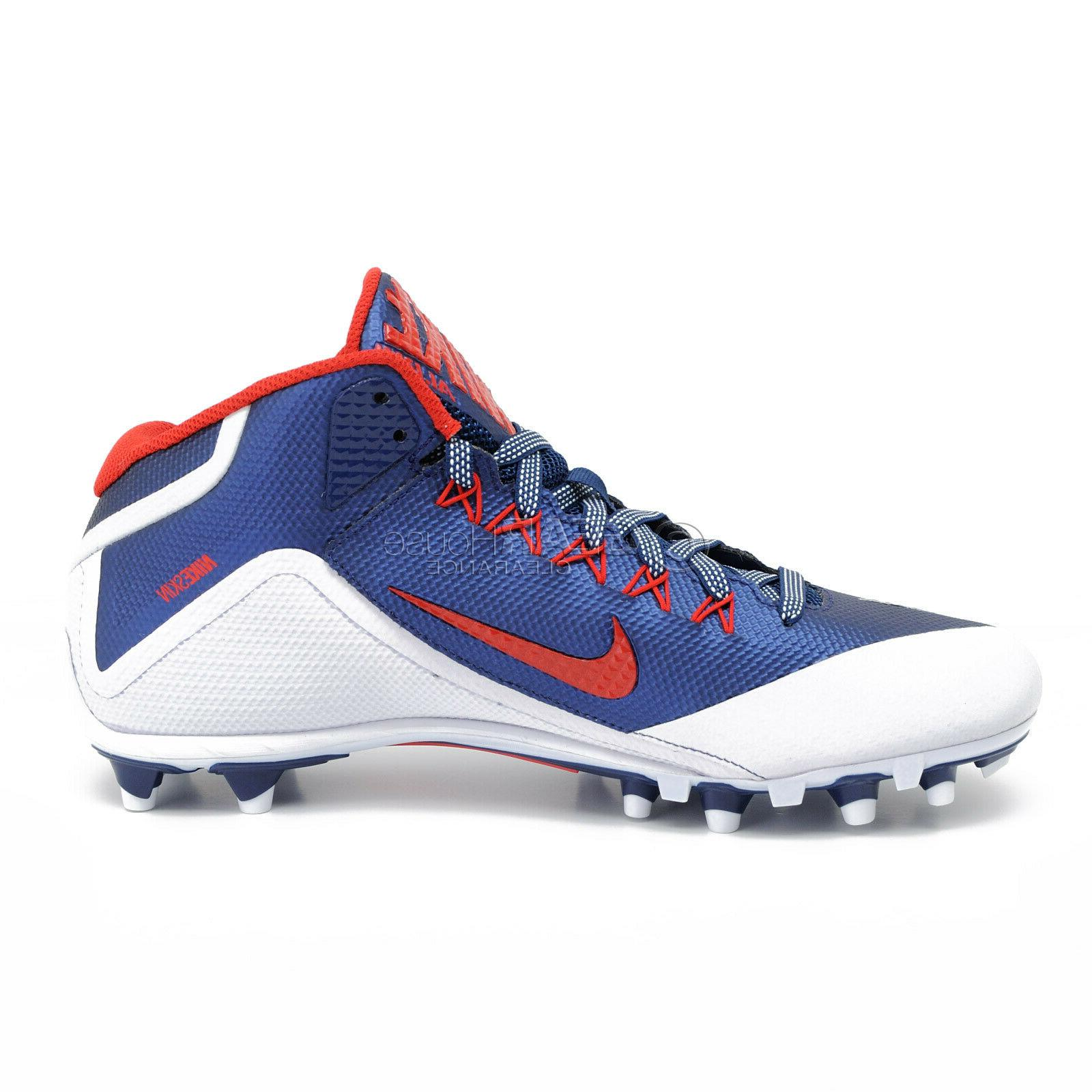 New Nike Alpha II Mens Football Navy Blue White Red - 11.5