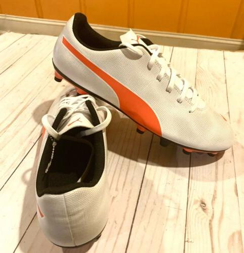 New FG Men's Soccer Orange and Cleats Men Shoe Football