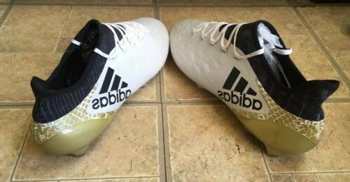 New Adidas 16.1 FG/AG Stella Pack Soccer Cleats White-Black-Gold 13