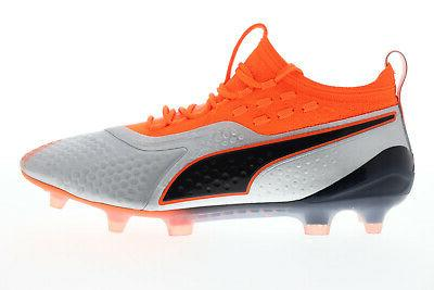 Puma One FG AG Gray Low Top Soccer Cleats