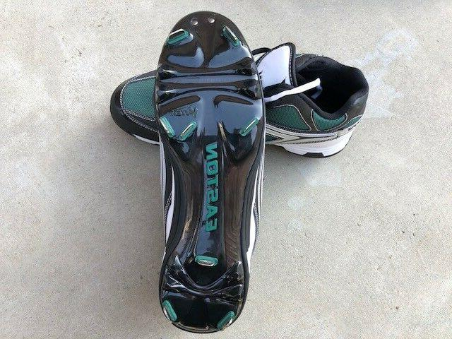 Easton MD baseball cleats, metal NEW, choice of size, Green/Black