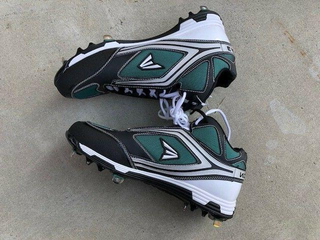 Easton cleats, NEW, of size, Green/Black