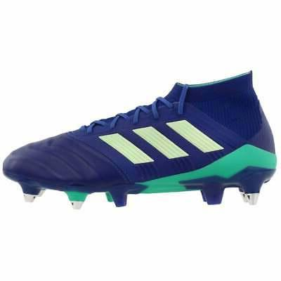 adidas Leather Athletic Soccer Soft Cleats Navy -