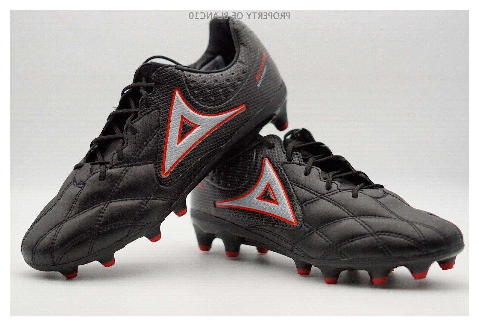 soccer cleats style 3015 black red brasil