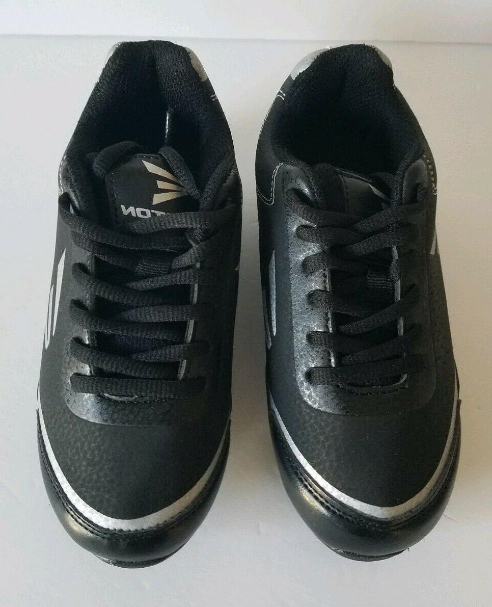 Easton Speed B24800 Black Silver Youth Baseball Cleats 12