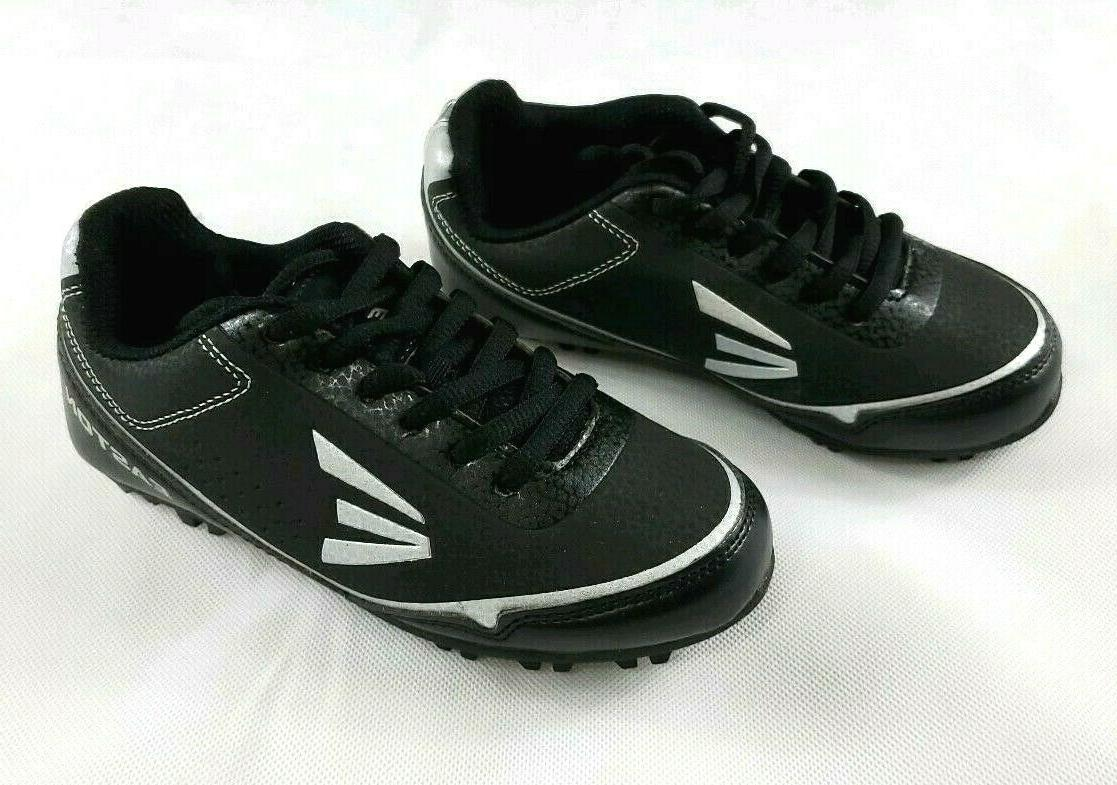 speed elite youth baseball cleats black silver