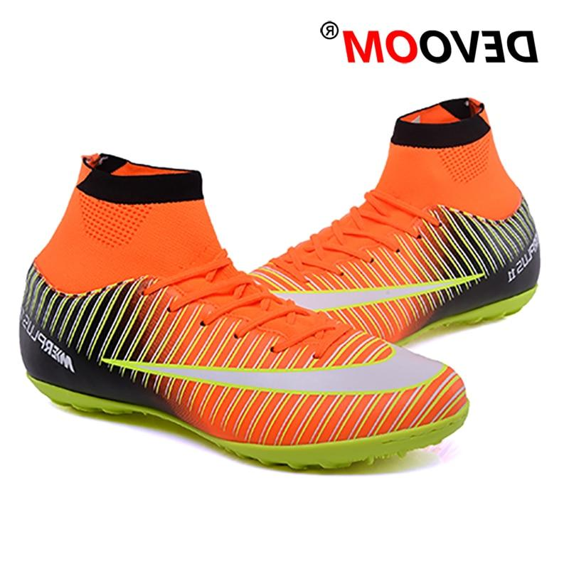 Turf Indoor Black Soccer voetbal Football <font><b>Boots</b></font> Man Sport Sneakers Cleats chaussure foot
