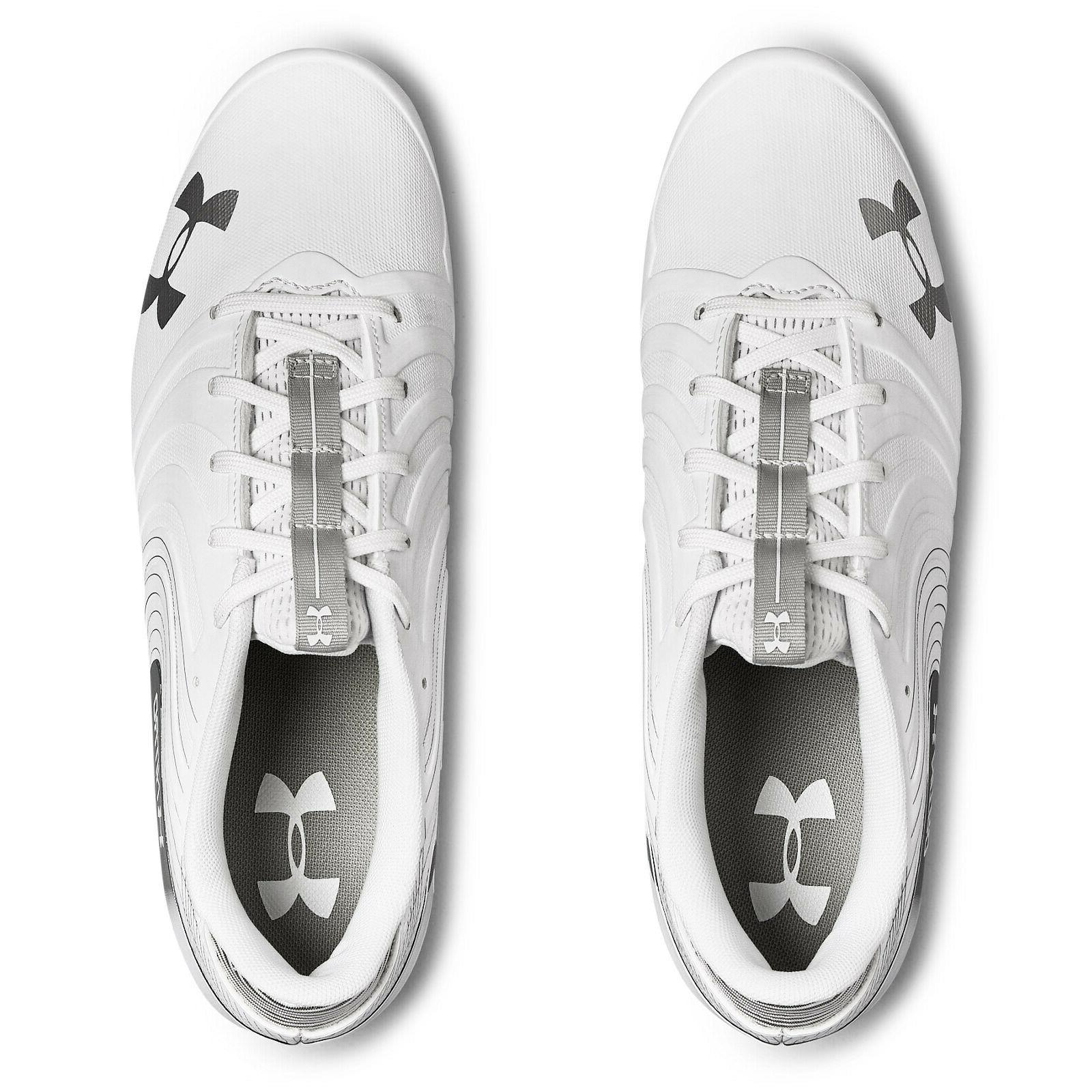 UNDER UA LOW MC Cleats Silver SIZE