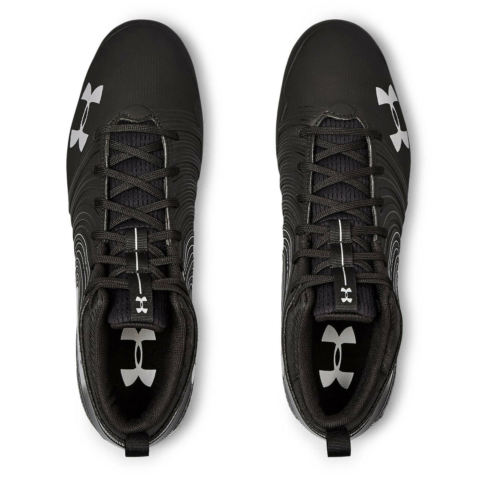 UNDER Cleats - Black Silver -