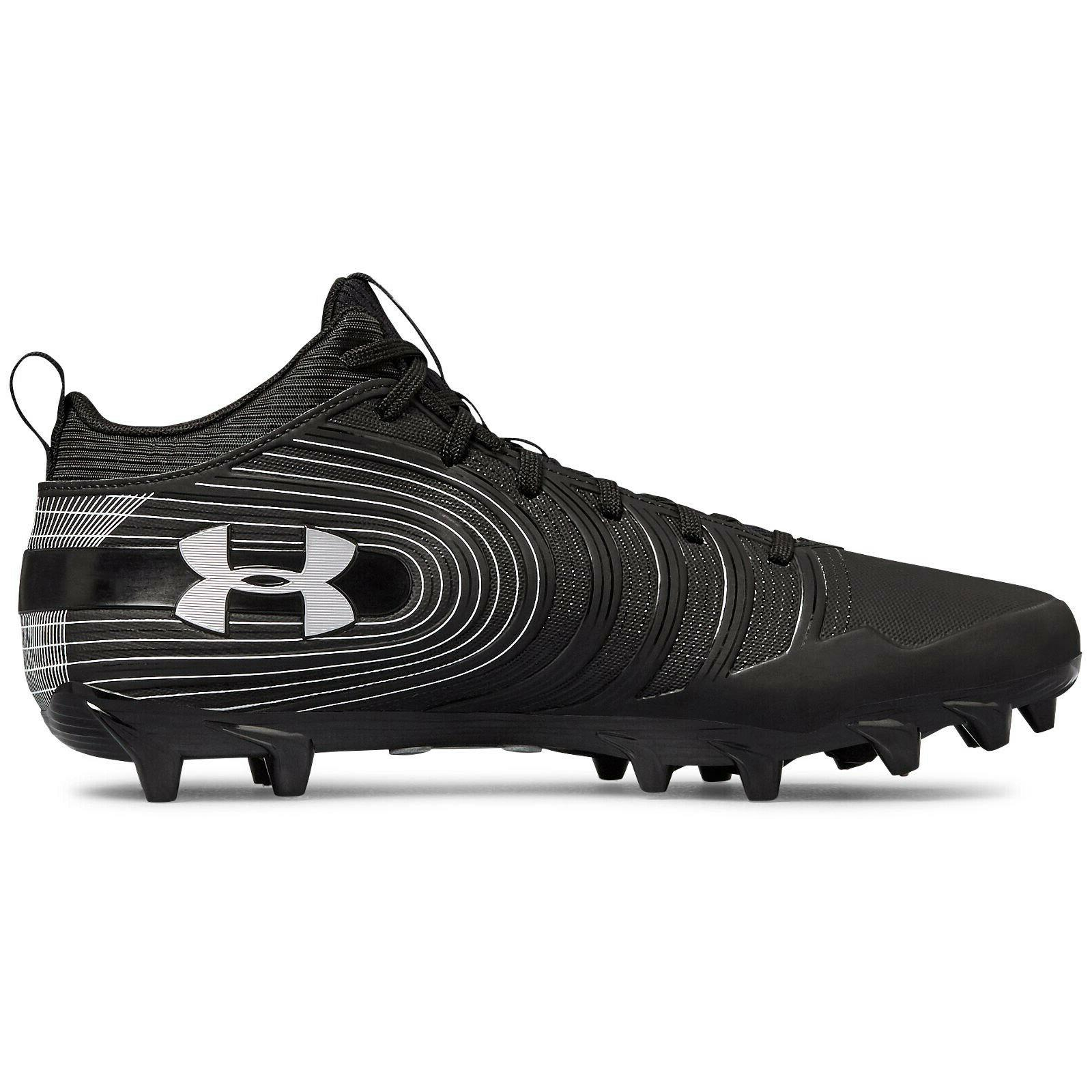 UNDER ARMOUR MID Cleats Silver