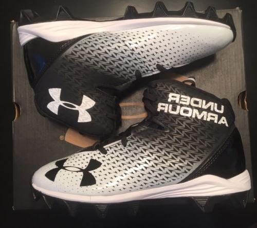 Under Armour UA Renegade RM Jr. Football Cleat Black White Y