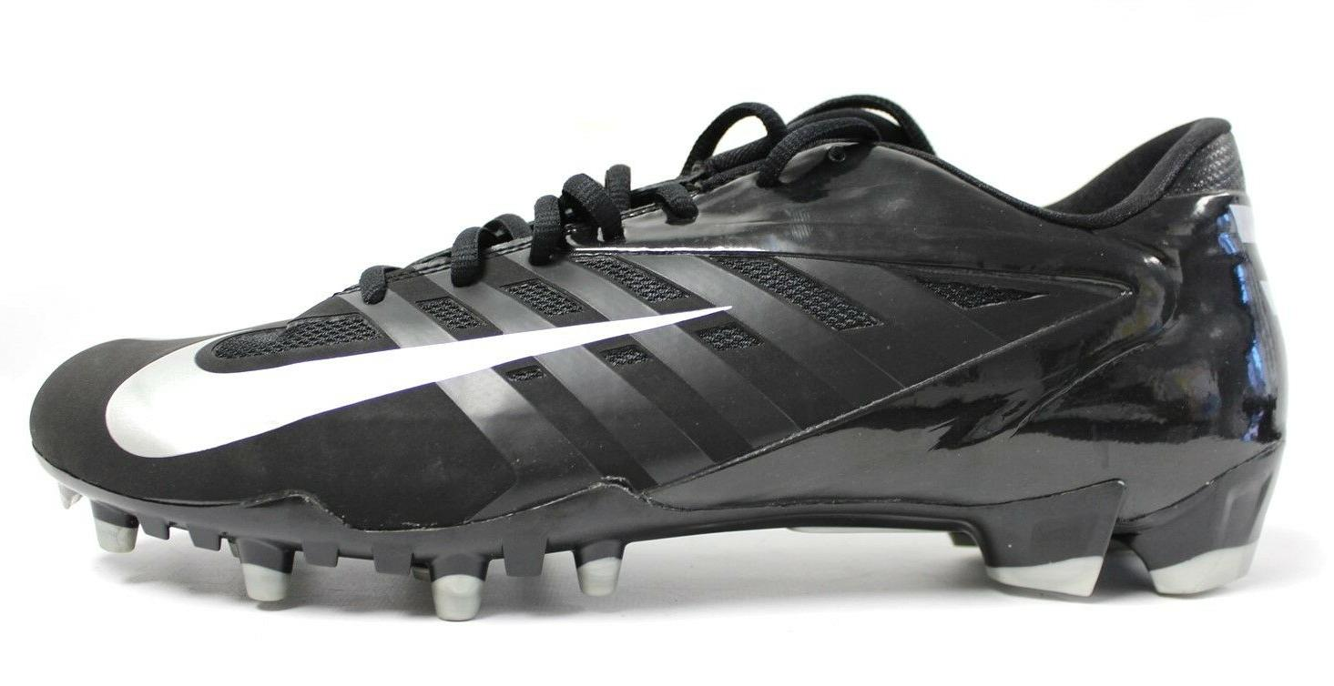 vapor pro black and silver football cleats