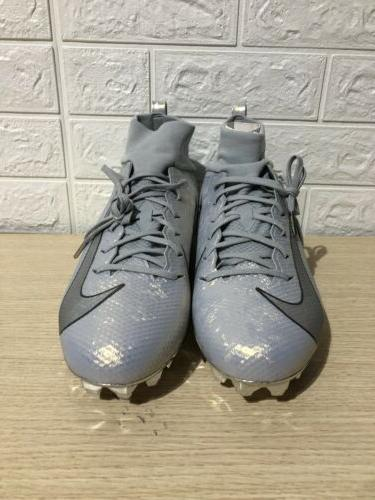 Nike Vapor Pro 3 Prm Football Cleats Silver AQ0634-002 9.5 NWOB