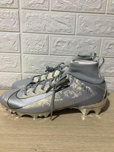 Nike Untouchable Pro 3 Football Cleats Silver AQ0634-002 Size NWOB