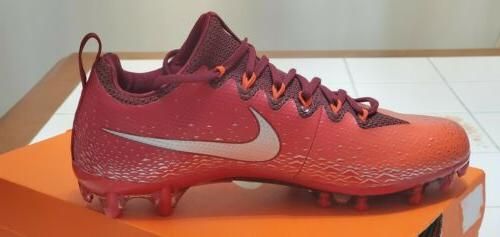 Nike Pro Football Cleats,833385-608,Red,Men's 10