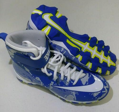 youth football lacrosse cleats blue white gray