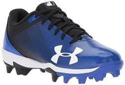 Under Armour Boys' Leadoff Low Jr. RM Baseball Shoe, Black /