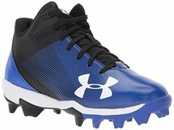 Under Armour Boys' Leadoff Mid Jr. RM Baseball Shoe, Black /