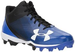 Under Armour Men's Leadoff Mid RM Baseball Shoe, Black /Team