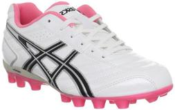 ASICS Lethal GS 4 Soccer Shoe ,White/Black,3 M US Little Kid